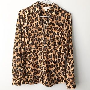 Dana Buchman Animal Cheetah Print Blouse